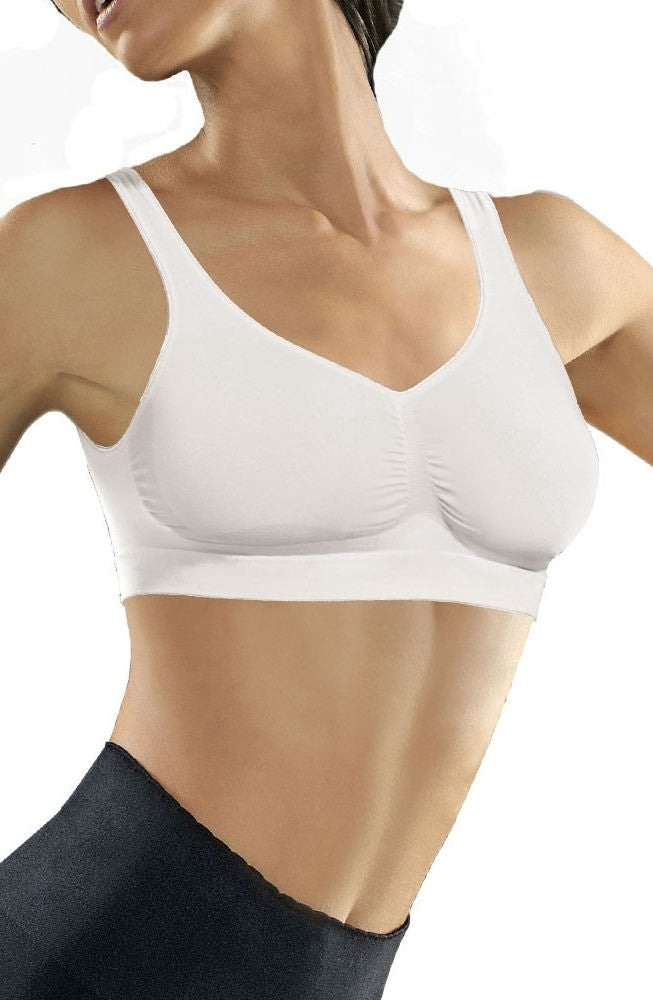 Medium Compression Push Up Bra Bianco
