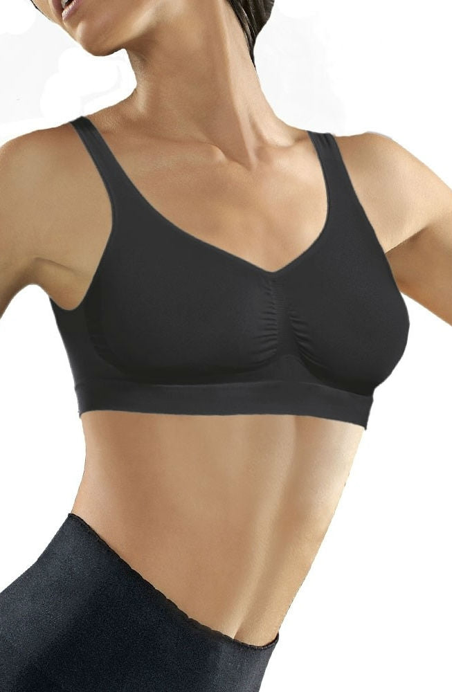 Medium Compression Push Up Bra Nero