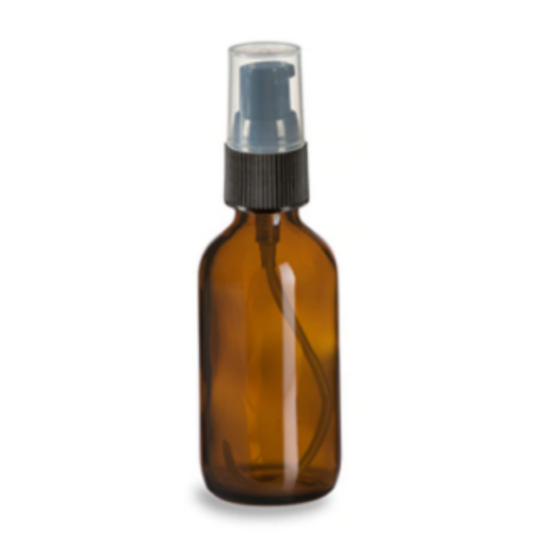 Refillable Glass Bottle with Treatment Pump