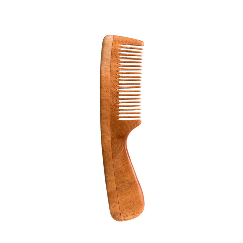 Neem Wood Hair Comb - Fine Tooth