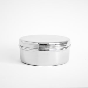 Small Stainless Snack Container - Circle