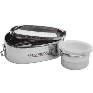 Oval Stainless Lunch Box & Snack Cup