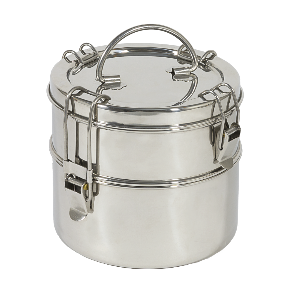 Two-Tier Stainless Steel Tiffin