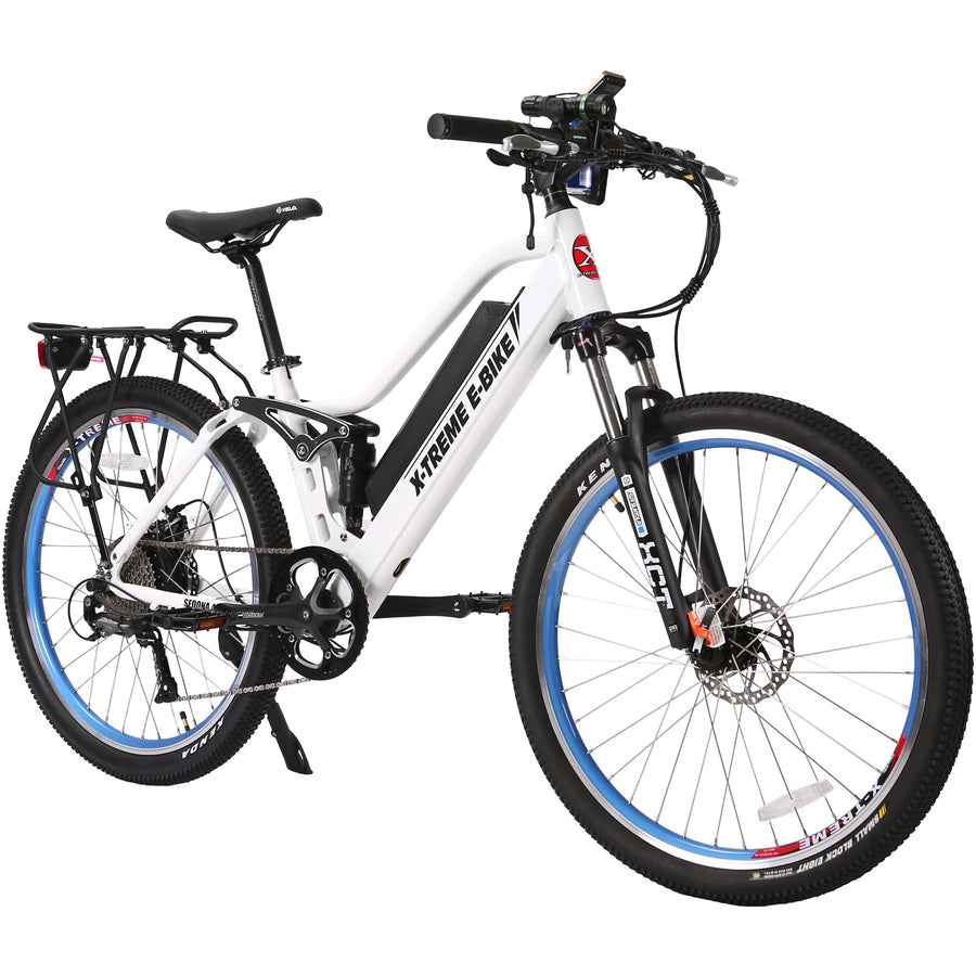 step through sedona full suspension electric mountain bike