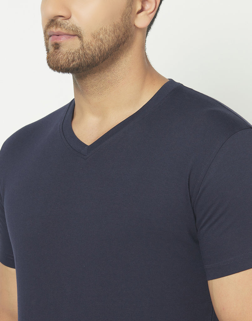 V-Neck Navy T-shirt