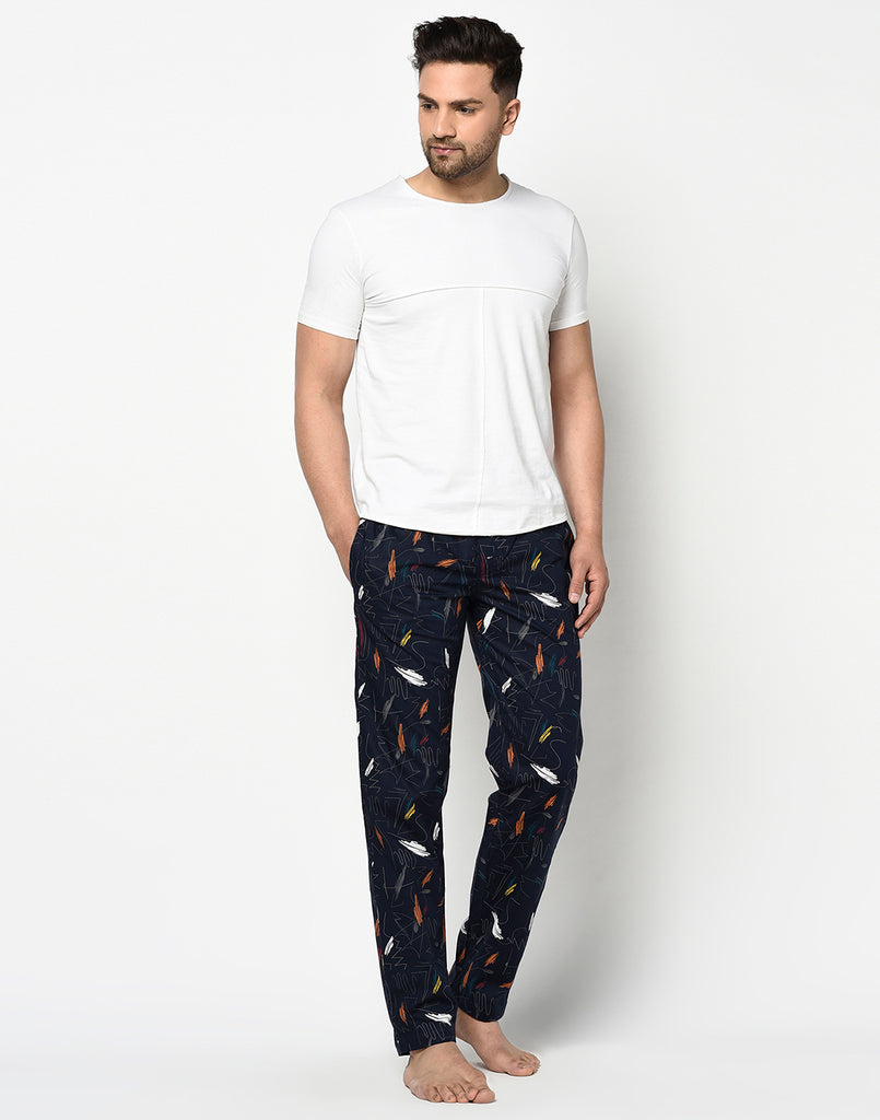 NAVY BLUE CANVAS PYJAMA