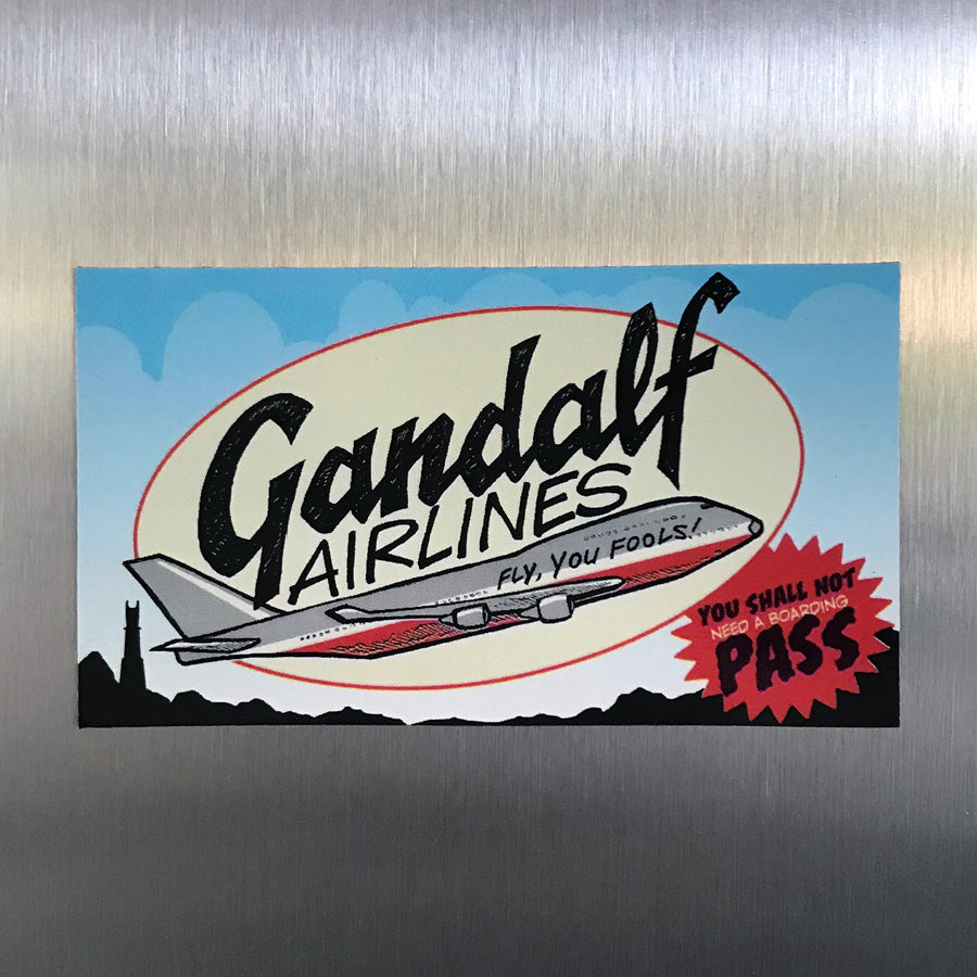"NEW! ""Gandalf Airlines"" Magnet"