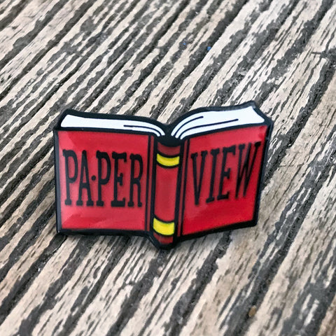 "NEW! ""PA•PER VIEW"" Enamel Pin"