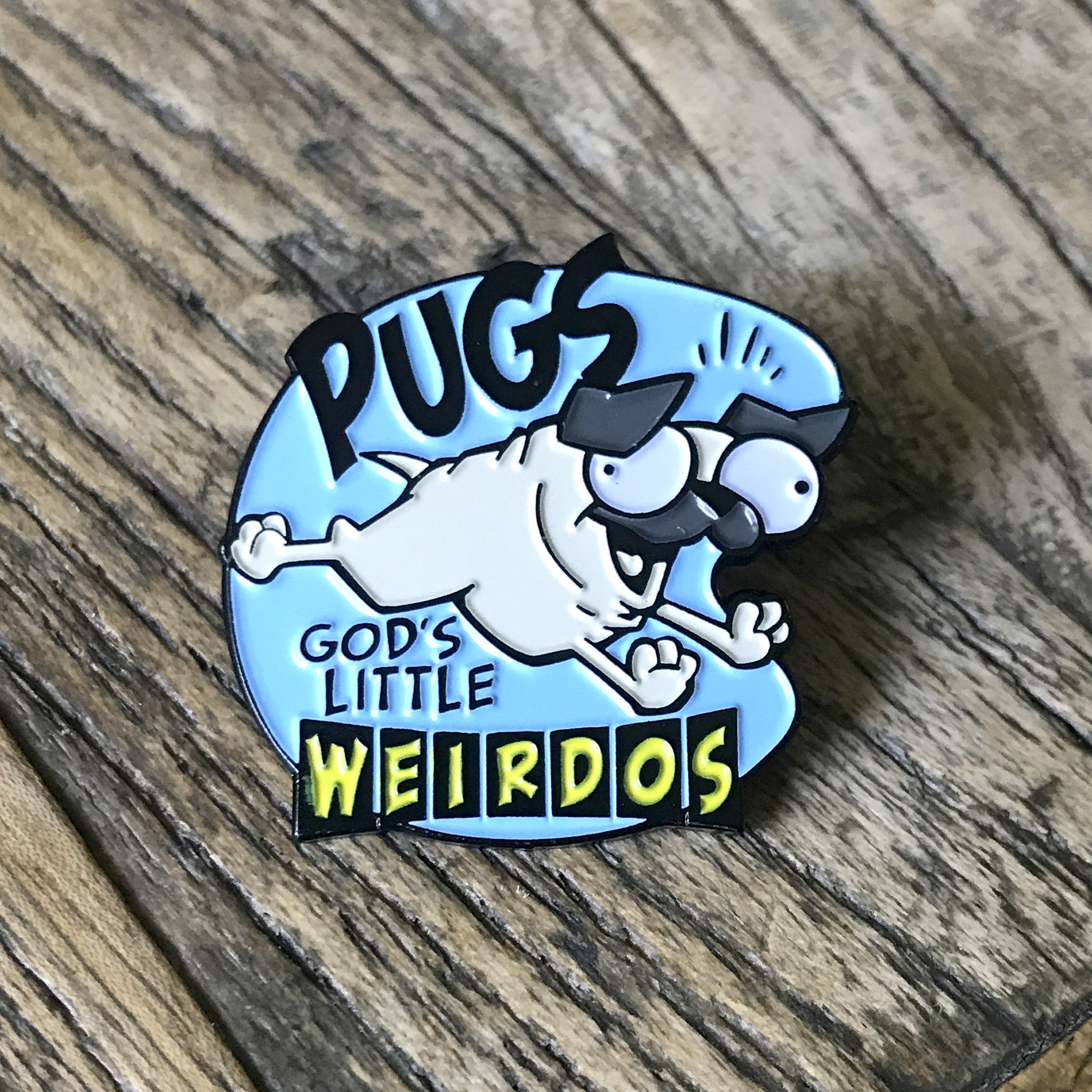 """God's Little Weirdos"" Enamel Pin"