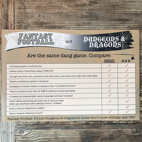 Print: Fantasy Football vs. Dungeons & Dragons