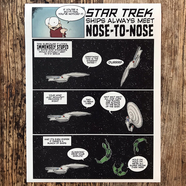Print: Star Trek Nose-to-Nose