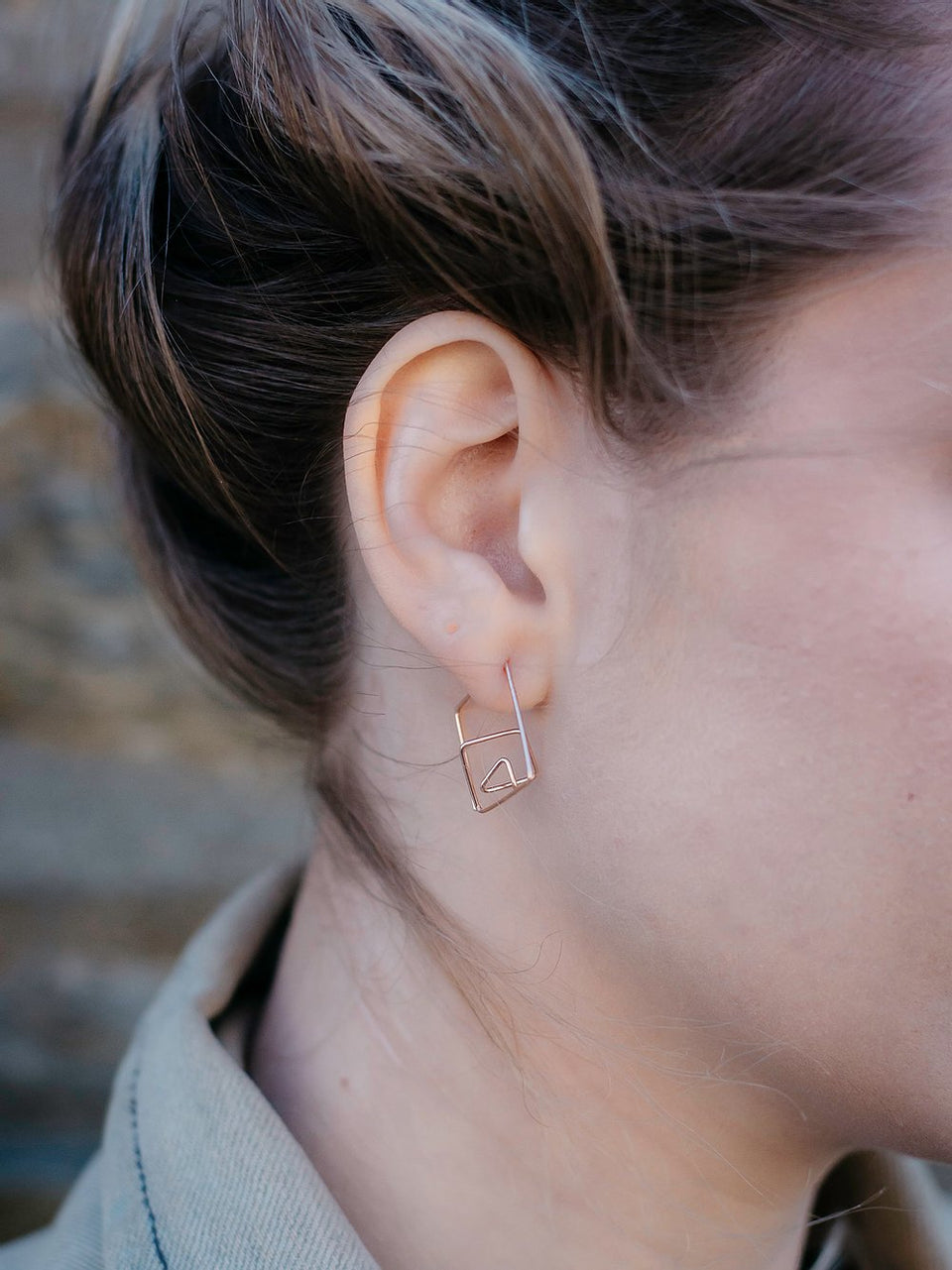 Geo Hoop Earrings