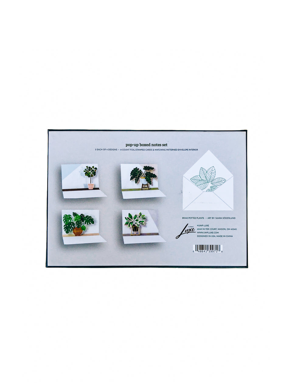 Pop-up Plant boxed Notecards