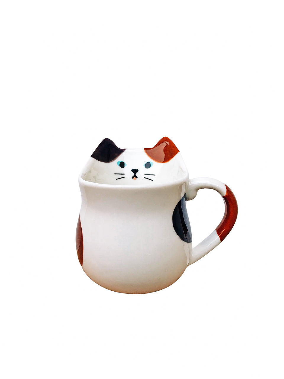 Calico Shaped Cat Mug