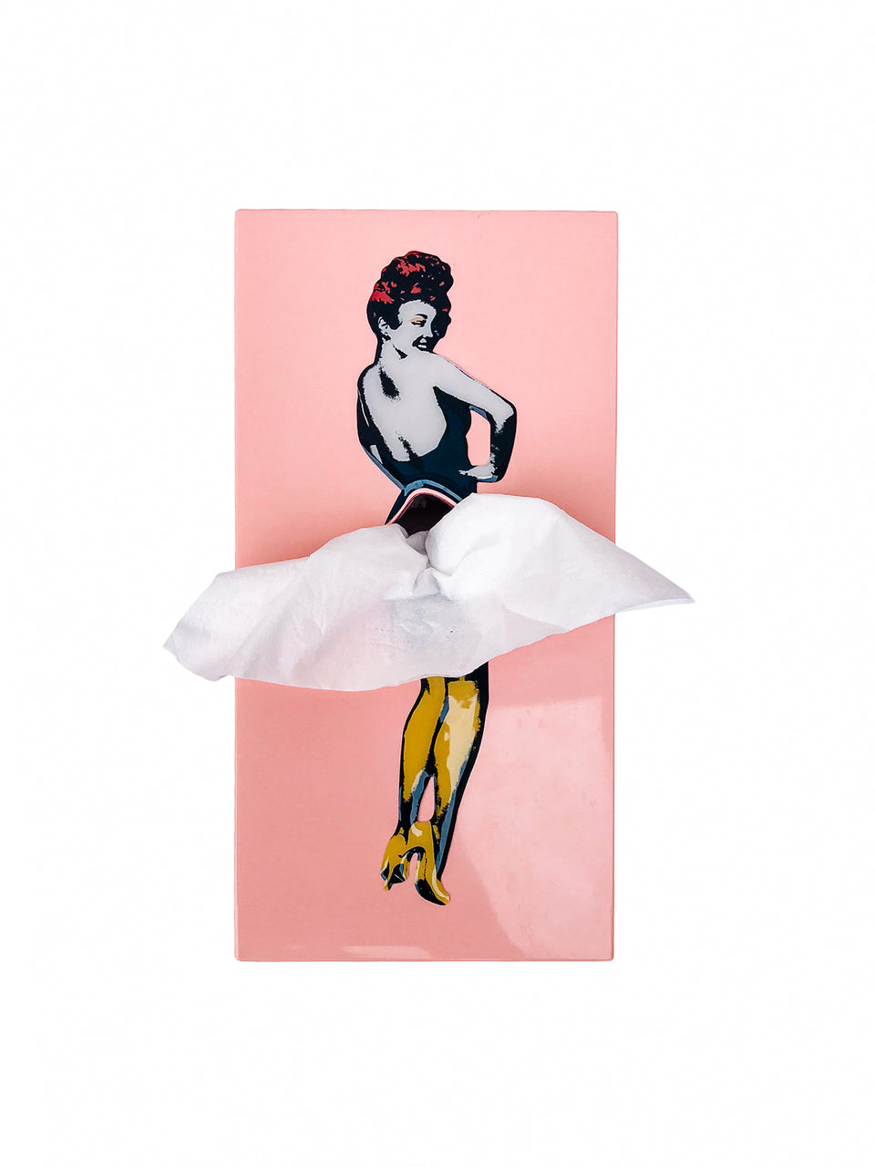 Flying Skirt Tissue Box