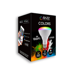 BR30 Smart WiFi RGB LED Bulb - BAZZ Smart Home.ca