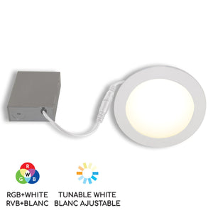 "6"" Smart WiFi RGB+White LED Recessed Light Fixture - White - BAZZ Smart Home.ca"