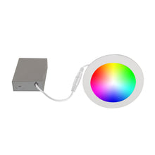 "Load image into Gallery viewer, 6"" Smart WiFi RGB+White LED Recessed Light Fixture - White (4-Pack) - BAZZ Smart Home.ca"
