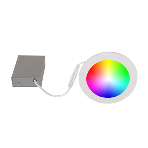 "6"" Smart WiFi RGB+White LED Recessed Light Fixture - White (4-Pack) - BAZZ Smart Home.ca"