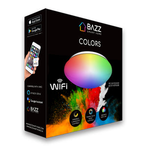 "14"" Smart Wifi RGB + White ceiling fixture - BAZZ Smart Home.ca"
