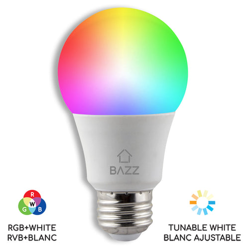 A19 Smart WiFi RGB LED Bulb - BAZZ Smart Home.ca