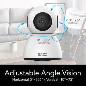 Smart WiFi HD 1080p Motorized Camera - BAZZ Smart Home.ca