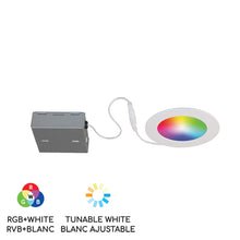 "Load image into Gallery viewer, 4"" Smart Wifi RGB LED Recessed Light Fixture - White - BAZZ Smart Home.ca"
