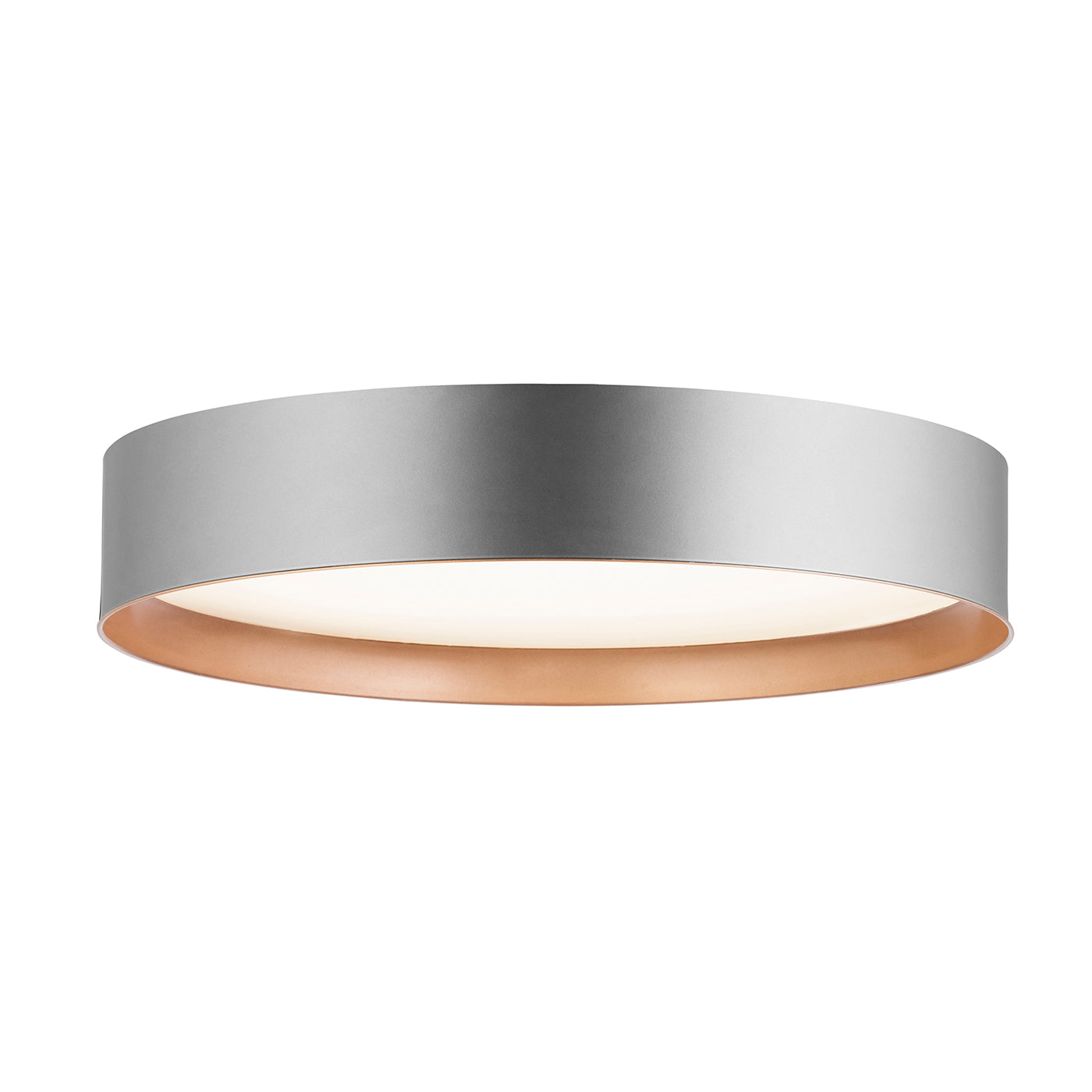 Domicilio Plafoniera rose gold de metal cu LED 37W FLAT C1