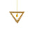 Lampa Suspendata TRIANGLE S2 natural wood galben