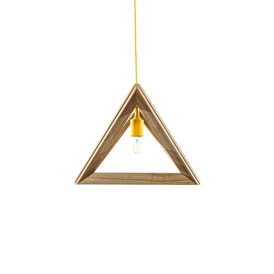 Lampa Suspendata TRIANGLE S1 natural wood galben
