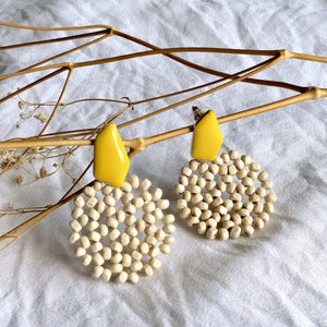 Tyla Rocaille Wooden Beads Earrings