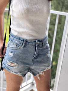 Sarah Washed Denim Short
