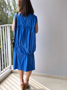 Hay Sleeveless Loose Ruched Dress