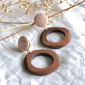 Knit Wooden Earring