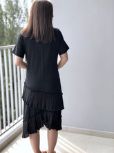 Load image into Gallery viewer, Betty Black Frilly Dress