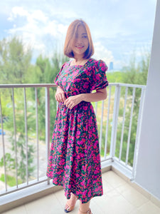 Lenoria Flower Breeze Midi Dress