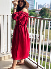 Load image into Gallery viewer, Ashley Off Shoulder Dress