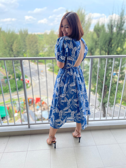 Bluee Leaf Maxi Dress