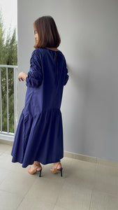 Larkyn Ruched Sleeve Maxi Dress