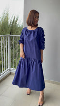 Load image into Gallery viewer, Larkyn Ruched Sleeve Maxi Dress