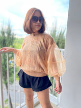 Load image into Gallery viewer, Chichi Sheer Sleeve Knit