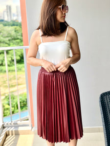Eloise PU Pleated Skirt