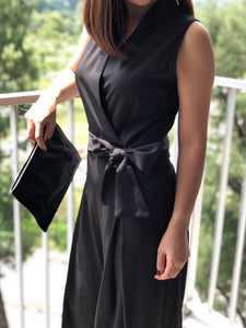 Mallow Sleeveless Black Jumpsuit