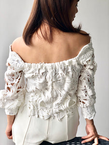 Levi Off-Shoulder Lace Top