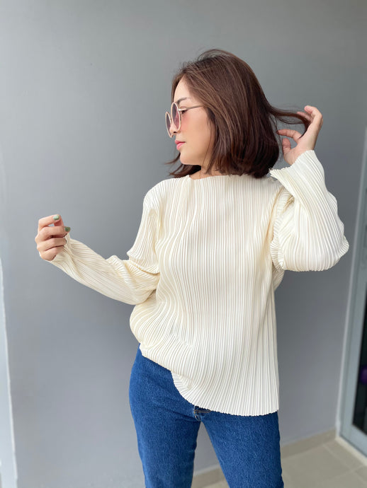 Prish Pleated Top - Cream