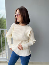 Load image into Gallery viewer, Prish Pleated Top - Cream