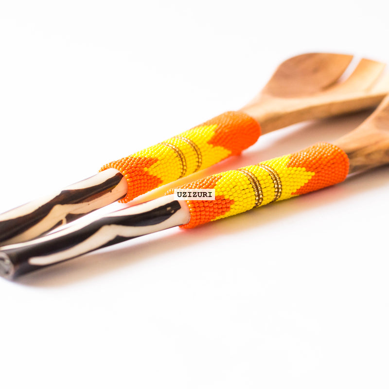 olive wood serving spoons