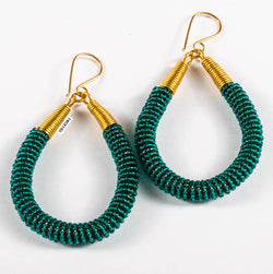Jamila Hoop Earrings - Hunter Green