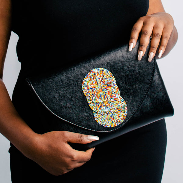 Lira Vegan Leather Clutch