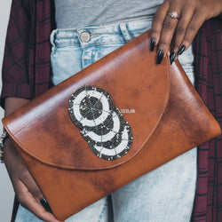 Teshie Vegan Leather Clutch